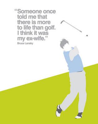 Golf Quote New Golf Quote Greeting Card  Sporting Gifts