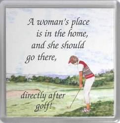 Main Image for: Golf A Woman's Place Coaster