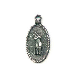 Main Image for: Cricketer Pewter Keyring