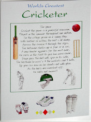 Main Image for: Worlds Greatest Cricketer Greeting Card