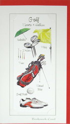 Main Image for: Golf Bookmark Greeting Card