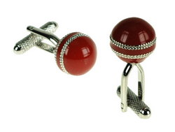 Main Image for: Cricket Ball Cufflinks - Red