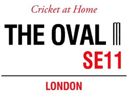 Main Image for: The Oval Cricket at Home Metal Wall Sign