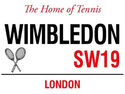 Main Image for: Wimbledon Home of Tennis Metal Wall Sign