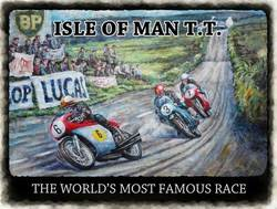 Main Image for: Isle of Man TT Race Metal Wall Sign
