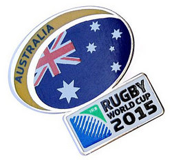 Main Image for: Australia Rugby World Cup 2015 Pin Badge
