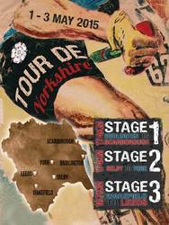 Main Image for: Tour de Yorkshire Vintage Metal Wall Sign 2015