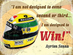 Main Image for: Ayrton Senna Helmet Metal Wall Sign