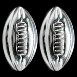 Alt Image for: Rugby Ball Sterling Silver Cufflinks