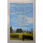 Image of: Golfers Prayer -Silver Framed Motto