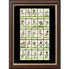 Image of: England 1995 Framed Cigarette Card Set