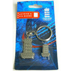 Image of: England Cricket ECB Keyring and Pin Badge Set