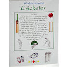 Image of: Worlds Greatest Cricketer Greeting Card