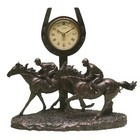 Image of: Juliana Bronze Race Horse Galloping Past the Post Clock