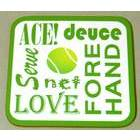 Image of: Tennis Text Coaster
