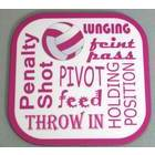 Image of: Netball Text Coaster
