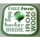 Image of: Golf Text Coaster