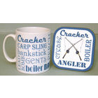 Image of: Coarse Fishing Text Mug and Coaster Set