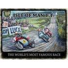 Image of: Isle of Man TT Race Metal Wall Sign