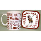 Image of: Polo Text Mug and Coaster Set