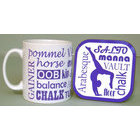 Image of: Gymnastics Text Mug and Coaster Set