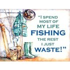 Image of: Fishing Waste Metal Wall Sign