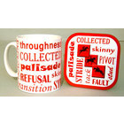 Image of: Three Day Eventing Text Mug and Coaster Set