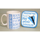 Image of: Swimming Text Mug and Coaster Set