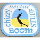 Image of: Beach Volleyball Text Coaster
