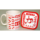 Image of: Handball Text Mug and Coaster Set