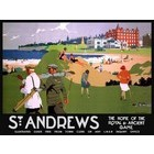 Image of: St Andrews Golf Course Metal Wall Sign - Large