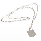 Image of: Aston Villa Silver Plated Pendant and Chain