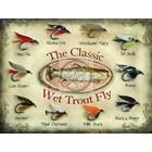 Image of: The Classic Wet Trout Fly Metal Wall Sign