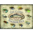 Image of: The Classic Salmon Fly Metal Wall Sign