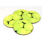 Image of: Round Tennis Ball Coaster