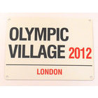 Image of: Olympic Village Metal Wall Sign