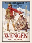 Image of: Wengen Skiing Metal Wall Sign