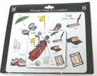 Image of: Golf Mousemat & Coaster Set (Little Snoring)