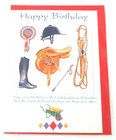 Image of: Horse & Rider Happy Birthday Card