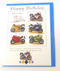 Image of: Sports Bikes Happy Birthday Card