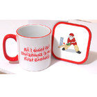 Image of: Christmas Cricket Mug & Coaster Set