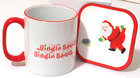 Image of: Christmas Bowls Mug & Coaster Set