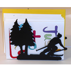 Image of: Skiing Letter Rack
