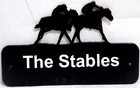 Image of: Personalised Horse Racing Sign Plate