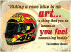 Image of: Valentino Rossi Helmet Metal Wall Sign