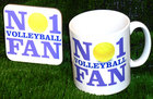 Image of: No 1 Volleyball Fan Mug and Coaster Set