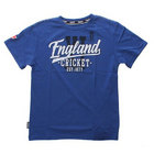 Image of: England Cricket Jnr Script T-Shirt -Blue