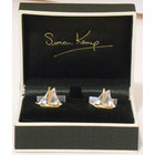 Image of: Sailing Boat Silver & Gold Cufflinks