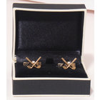Image of: Golf Club and Ball Silver & Gold Cufflinks