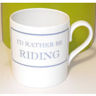 Image of: I'd rather be RIDING Mug
